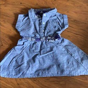 Nautical Shirt Dress with Bandana Accent